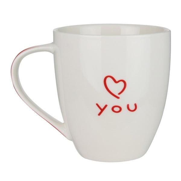 Porcelánový hrnek v dárkovém balení LeStudio Love Mug, 400 ml