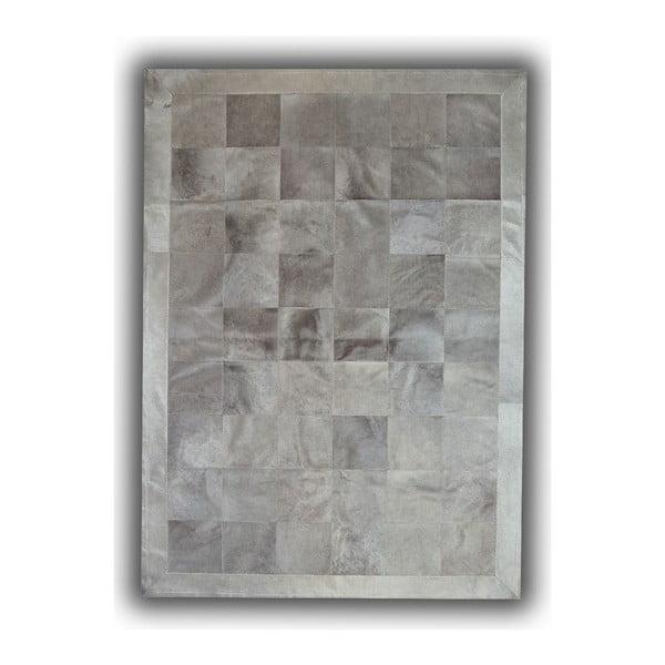 Koberec z pravé kůže Grey, 140x200 cm