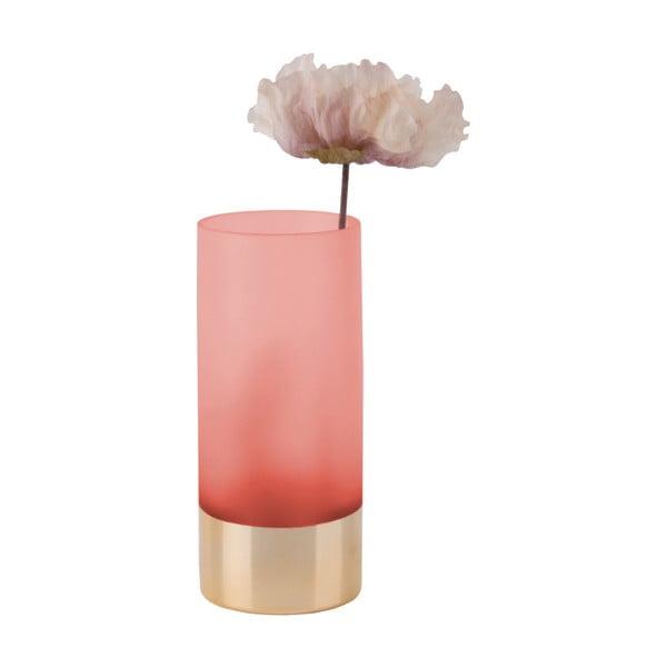 Růžovo-zlatá váza PT LIVING, výška 18,5 cm