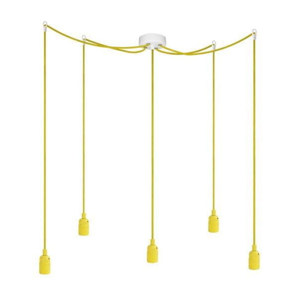 Pět závěsných kabelů Uno, žlutá/žlutá/bílá