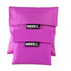Sada 2 kapsiček na svačinu Snack'n'Go, fialové