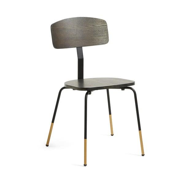 Černá jídelní židle La Forma Norfort