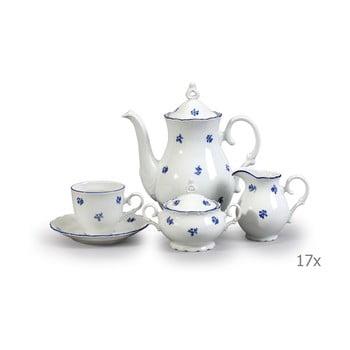 Set veselă din porțelan pentru cafea, cu motive albastre Thun Ophelia imagine