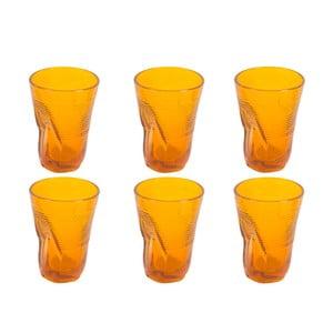 Sada 6 oranžových sklenic Kaleidos, 340ml