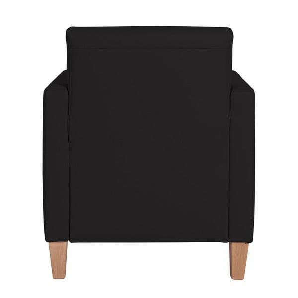 Černé křeslo Max Winzer Milla Leather Black