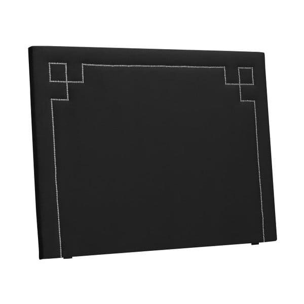 Černé čelo postele THE CLASSIC LIVING Nicolas, 160 x 120 cm