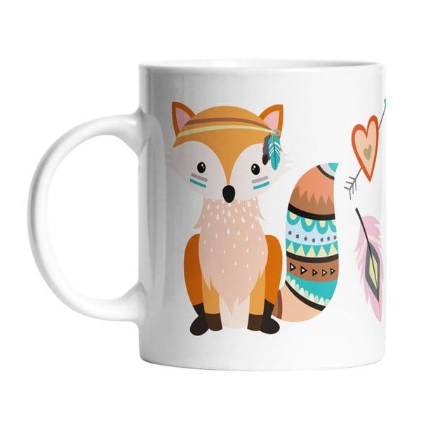 Keramický hrnek Two Foxes, 330 ml