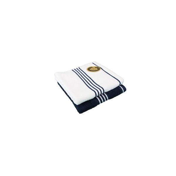 Sada 2 osušek Rio Navy Blue/White, 70x140 cm