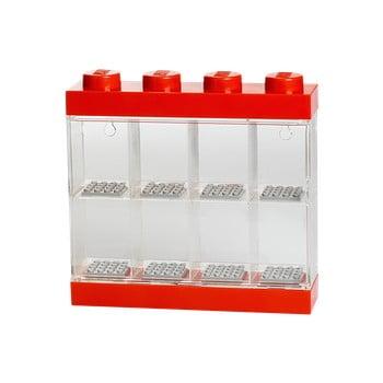 Cutie pentru 8 minifigurine LEGO®, alb - roșu imagine