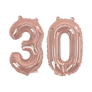 Balónek s číslem 30 Neviti Rose Gold