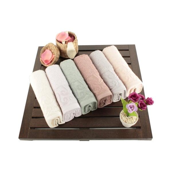 Sada 6 bavlněných ručníků Sal, 30x50cm