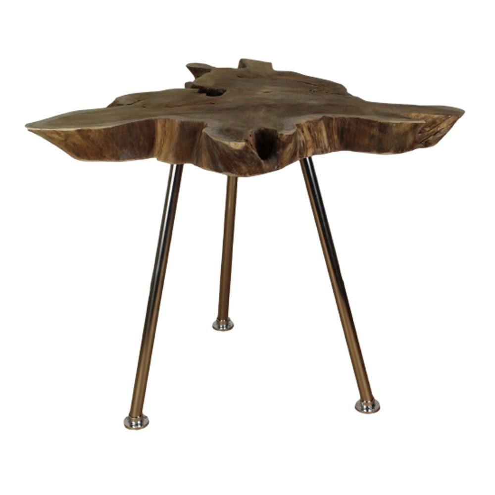 Odkládací stolek z teakového dřeva HSM Collection Stain, 45 x 80 cm