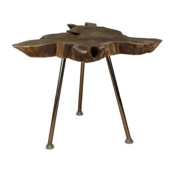 Măsuță auxiliară din lemn de tec HSM Collection Stain, 45 x 80 cm