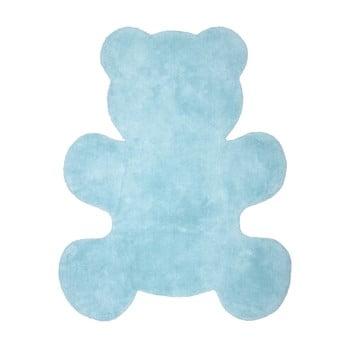 Covor pentru copii Nattiot Little Teddy, 80 x 100 cm, albastru