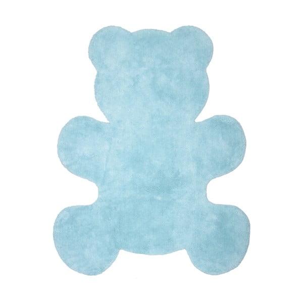 Little Teddy kék, kézzel készített gyerekszőnyeg, 80 x 100 cm - Nattiot