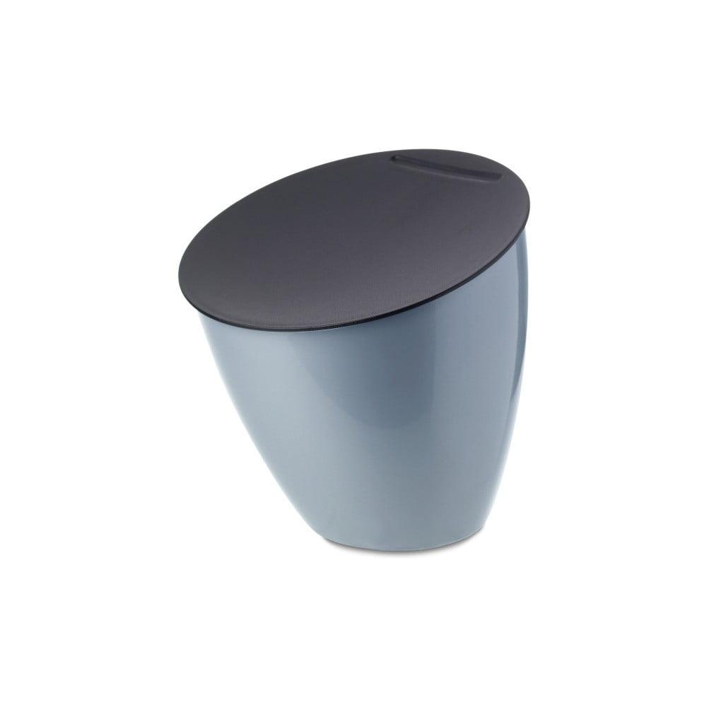 Světle modrý odpadkový koš na kuchyňskou linku Rosti Mepal Calypso, 2,2 l