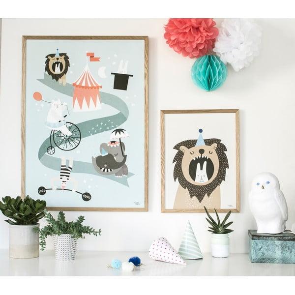 Plakát Michelle Carlslund Lion & Bunny, 30x40cm