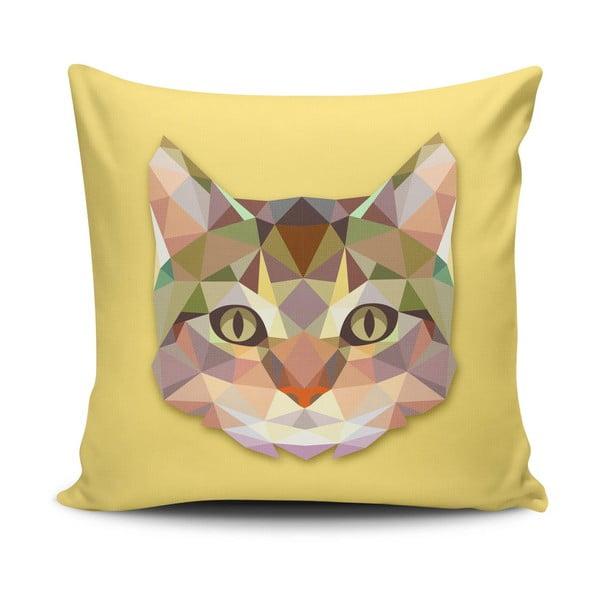 Povlak na polštář s příměsí bavlny Cushion Love Cat, 45 x 45 cm