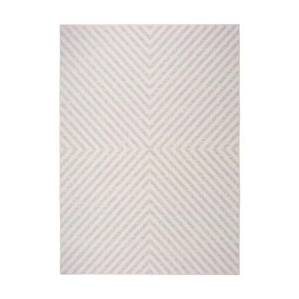 Covor pentru exterior Universal Cannes Hypnotic, 200 x 140 cm, alb-crem
