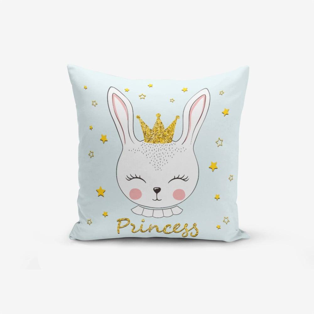 Povlak na polštář s příměsí bavlny Minimalist Cushion Covers Princess Rabbit, 45 x 45 cm