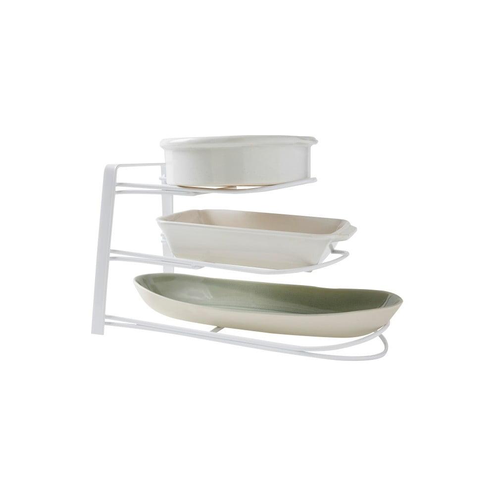 Bílý kuchyňský stojan na nádobí Compactor Rona