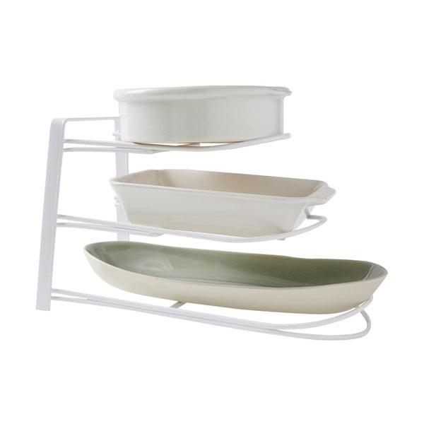 Biała półka/stojak na naczynia Compactor Rona