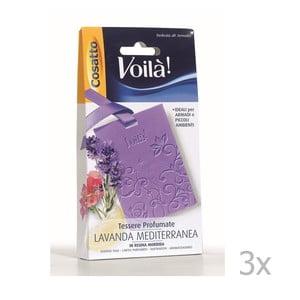 Set 3 cartonașe parfumate  Cosatto Perfume, aromă de levănțică