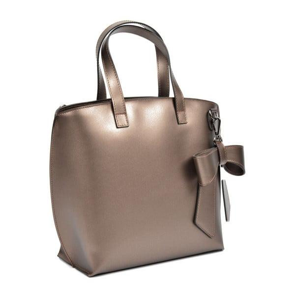 Kožená kabelka s bronzovými odlesky Luisa Vannini Bella