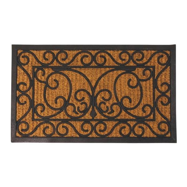 Covoraș intrare din cauciuc și fibre de cocos Esschert Design Ornamental, 44,5 x 74,5 cm