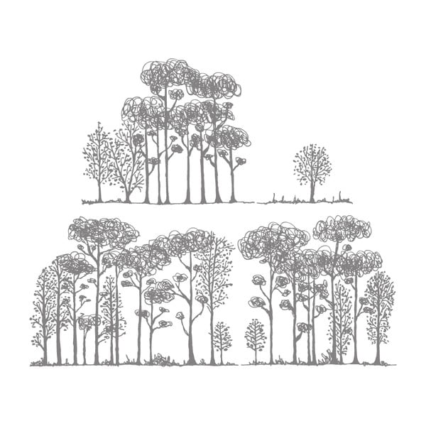 Samolepka Forest, 117x28 cm