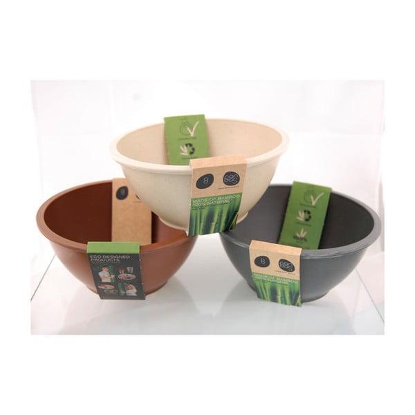 Bambusové misky, set 3 ks, hnědé