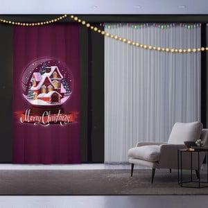 Vánoční závěs Christmas Village, 140 x 260 cm