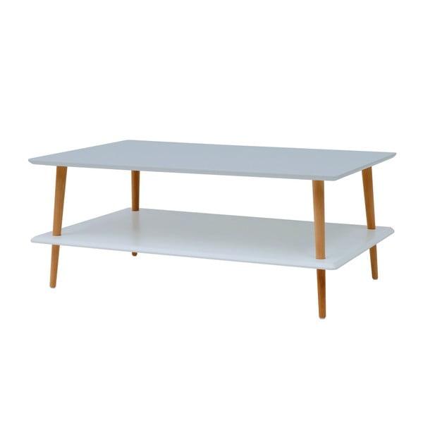 Světle šedý konferenční stolek se sníženou spodní deskou Ragaba KORO