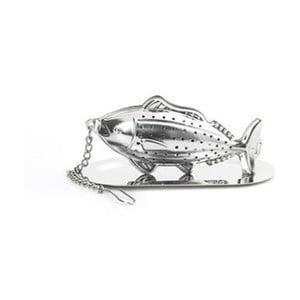Čajové sítko z nerezové oceli s motivem ryby Kikkerland Animal