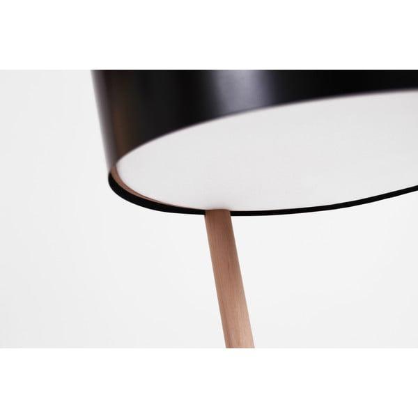 Černá volně stojící lampa s odkládacím prostorem Woodendot Ka L