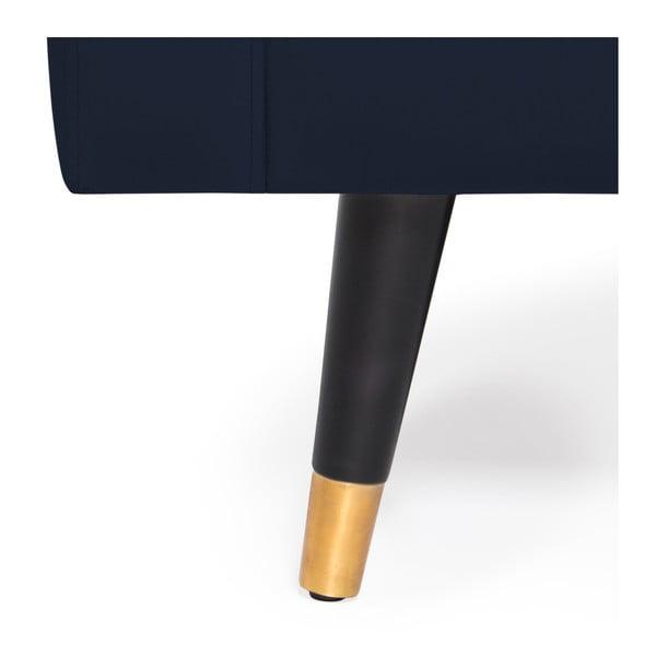 Námořnicky modrá trojmístná pohovka s mosaznými nohami Vivonita Harper Velvet