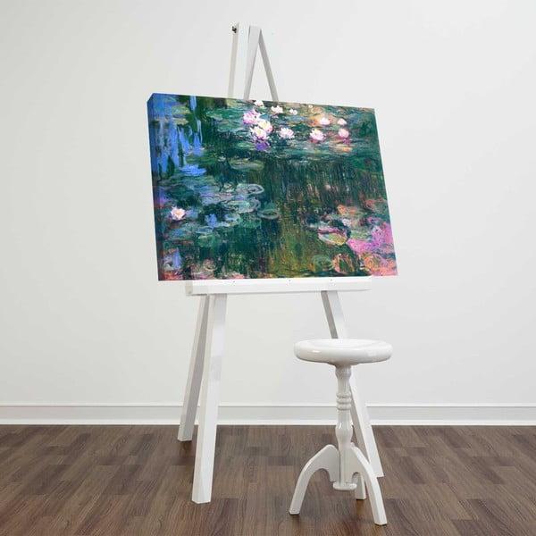 Nástěnná reprodukce na plátně Claude Monet, 45 x 70 cm