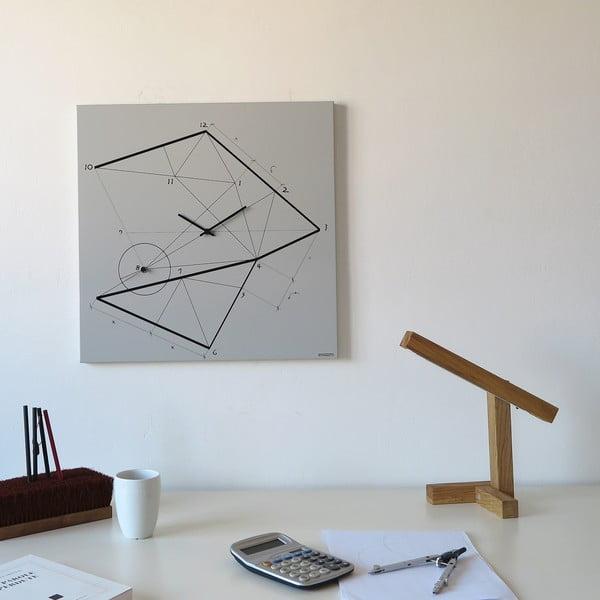 Nástěnné hodiny dESIGNoBJECT.it Time Lin,50x50cm