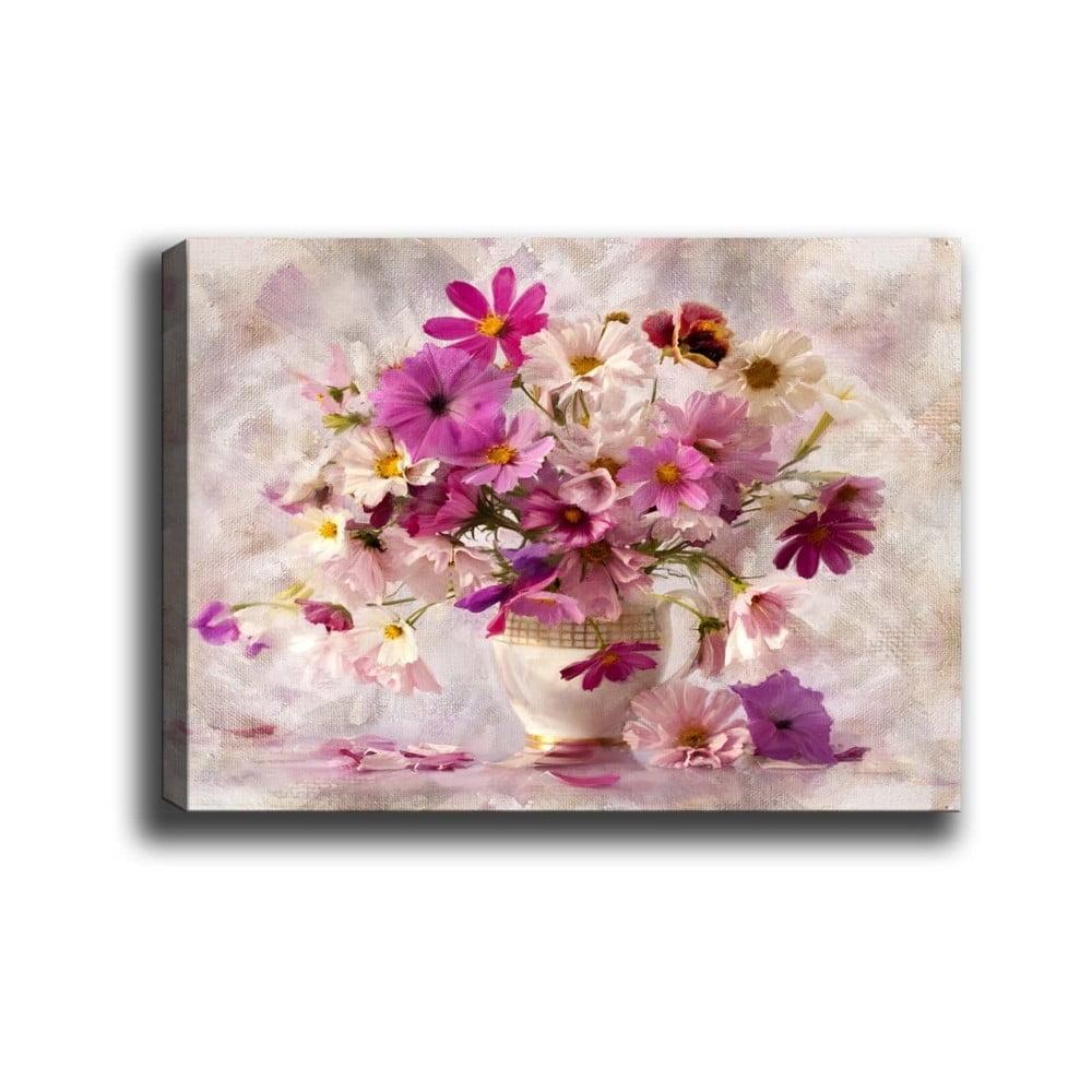 Nástěnný obraz na plátně Tablo Center Flowers in Vase, 40 x 60 cm
