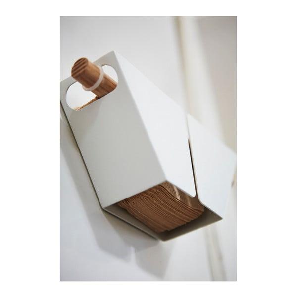 Bílý magnetický držák kávových filtrů Yamazaki Tosca