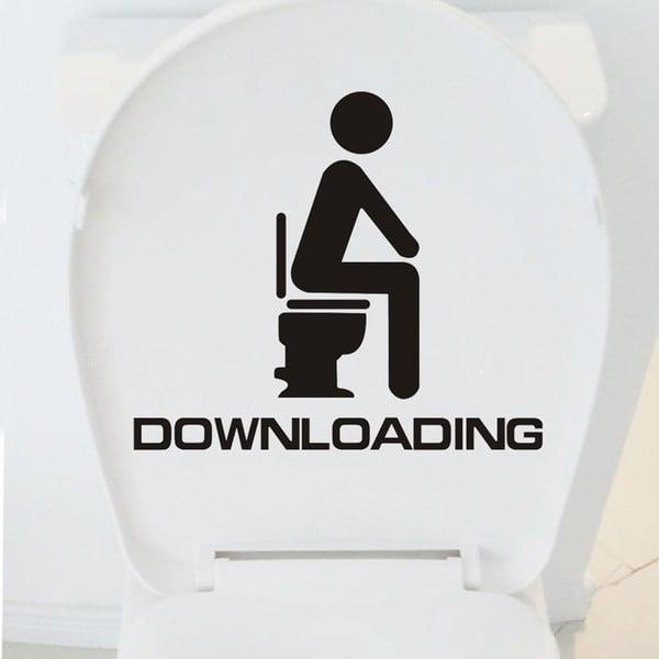 Dekorativní samolepka WC Downloading, 35x40 cm