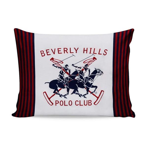 Komplet 2 bawełnianych poszewek na poduszki Polo Club Red, 50 x 70 cm