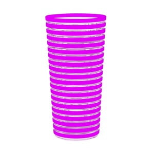 Sklenice Swirl 600 ml, fuchsiová