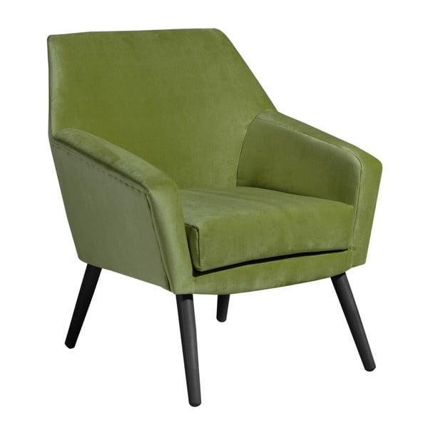 Zelené křeslo s černými nohami Max Winzer Alegro