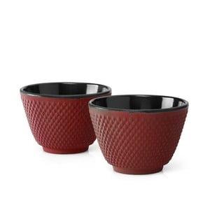 Sada 2 červenýchlitinových hrnečků na čaj Bredemeijer Xilin