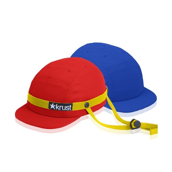 Cyklistická přilba Krust red/yellow/blue s náhradní čepičkou, velikost S