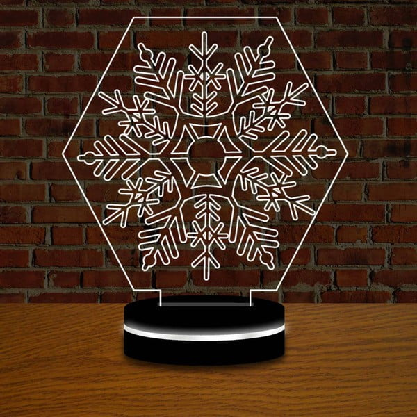Lampa s 3D efektem Christmas no. 8