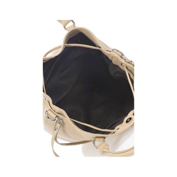 Béžová kožená kabelka Krole Kenna
