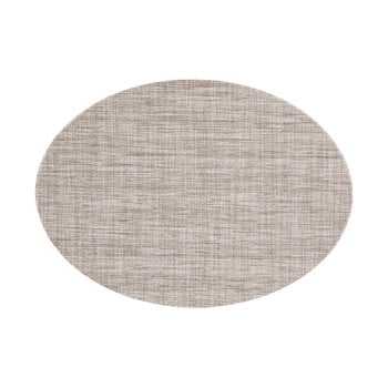 Suport pentru farfurie Tiseco Home Studio Oval, 46 x 33 cm, maro gri de la Tiseco Home Studio