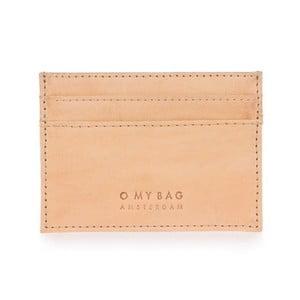 Béžové kožené pouzdro na karty a vizitky O My Bag Mark´s